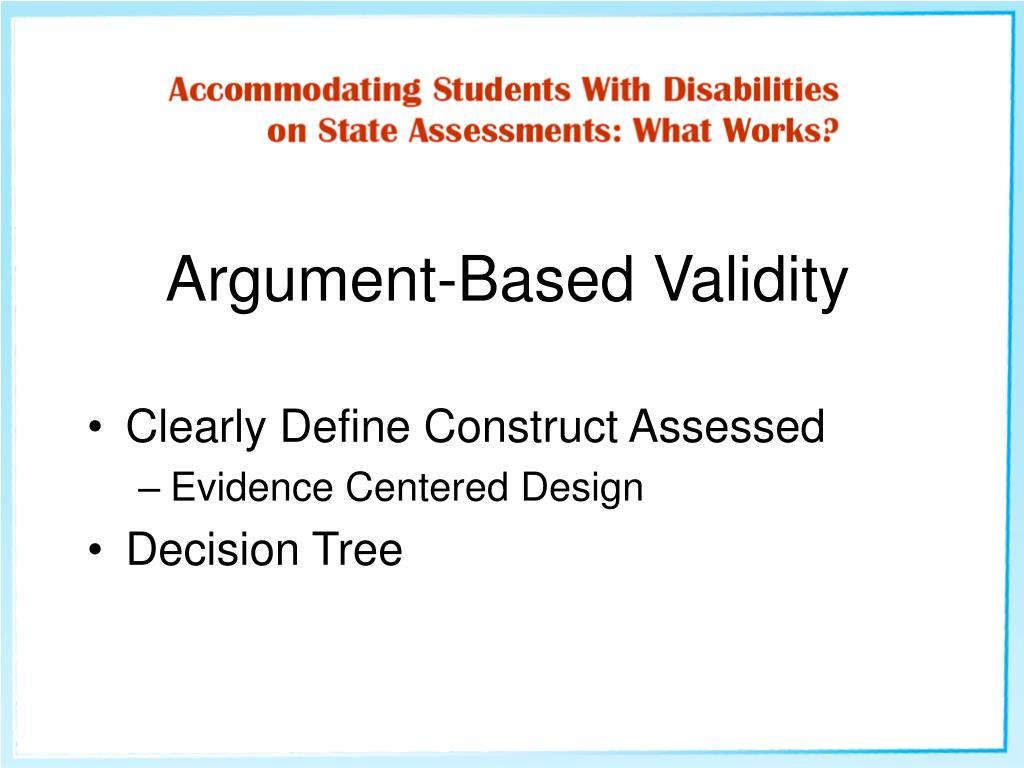 Argument-Based Validity