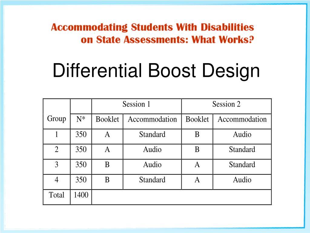 Differential Boost Design