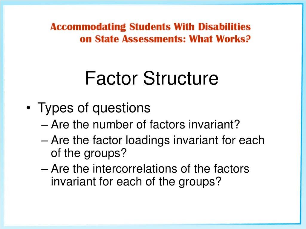 Factor Structure