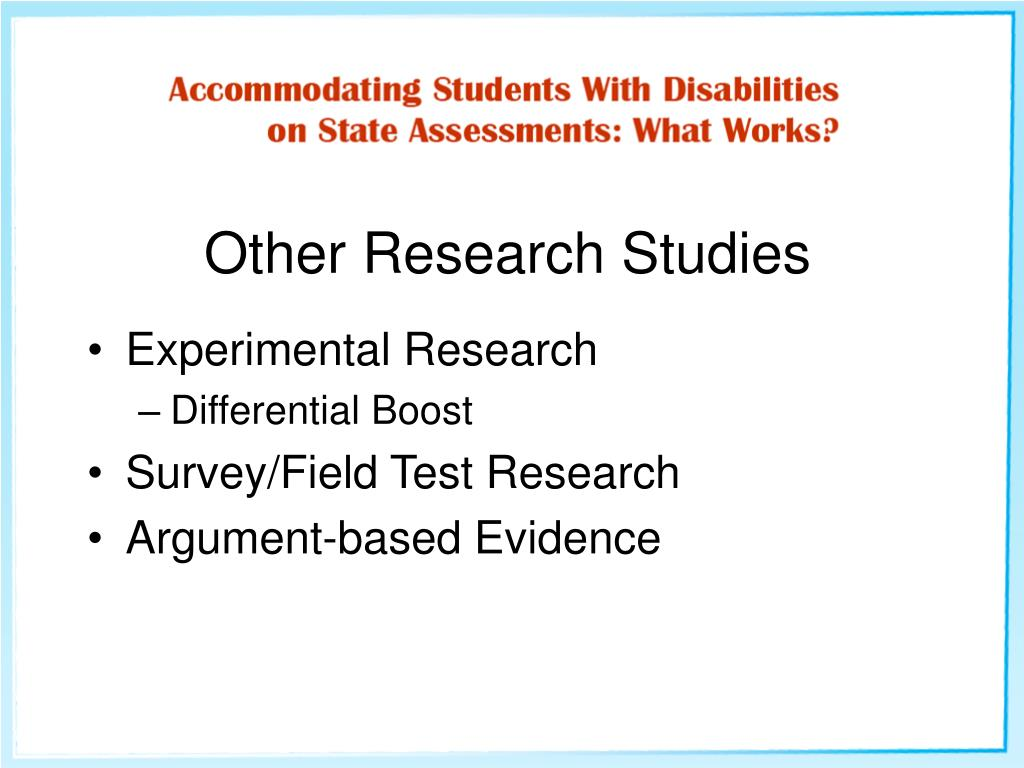 Other Research Studies