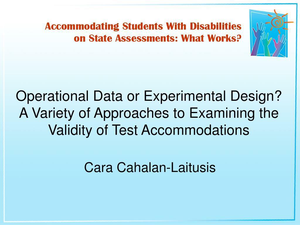 Operational Data or Experimental Design?