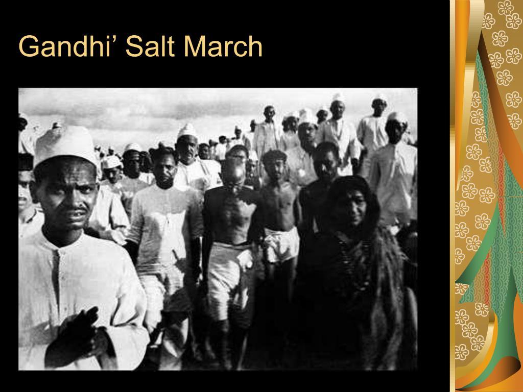 Gandhi' Salt March