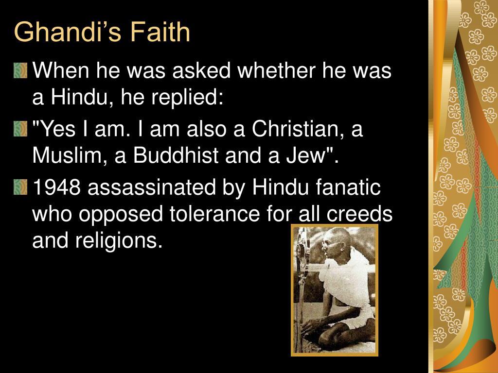 Ghandi's Faith