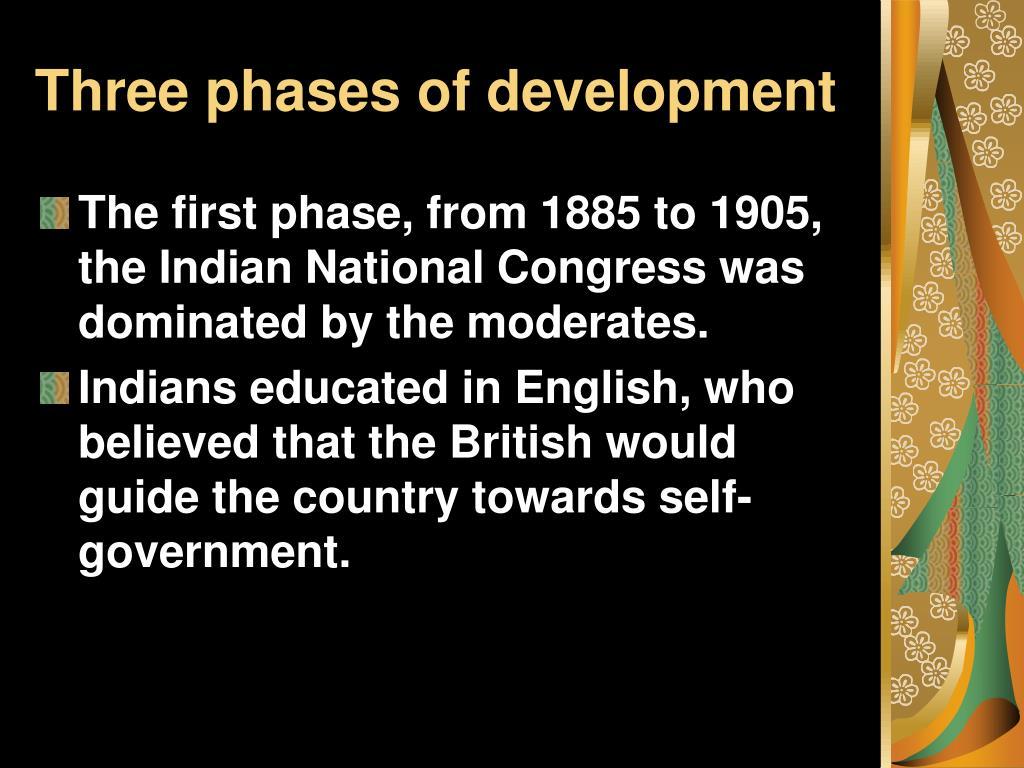 Three phases of development