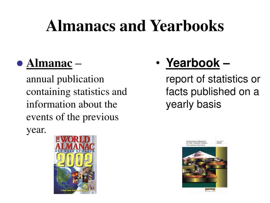Almanacs and Yearbooks