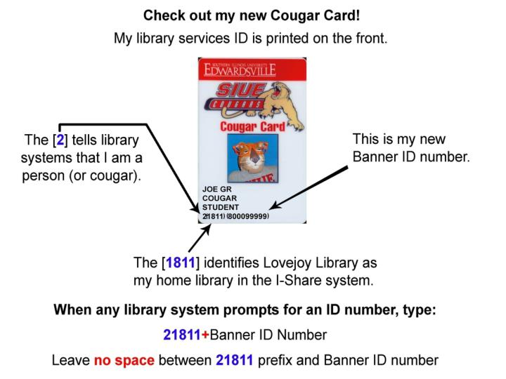 Banner id number cougar card insert graphic