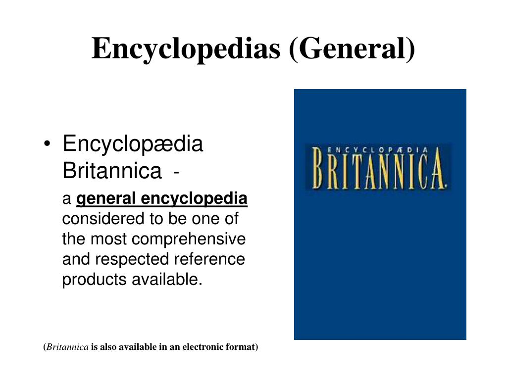 Encyclopedias (General)