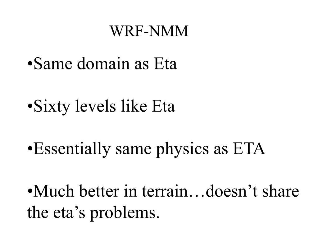 WRF-NMM