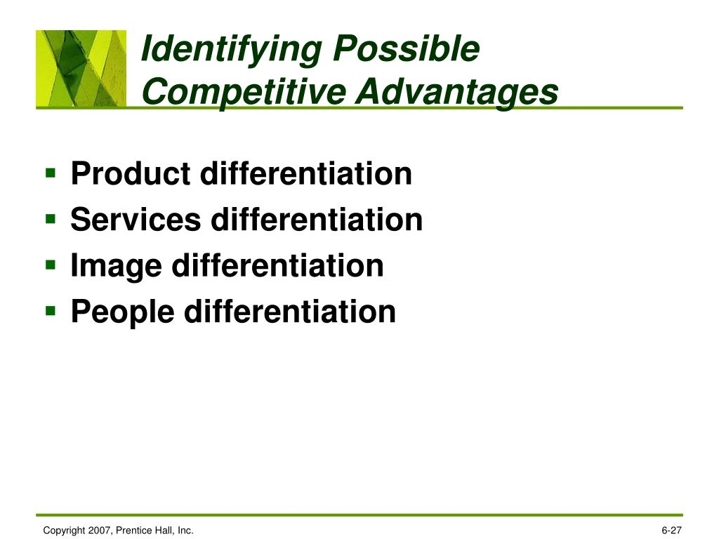 Identifying Possible Competitive Advantages