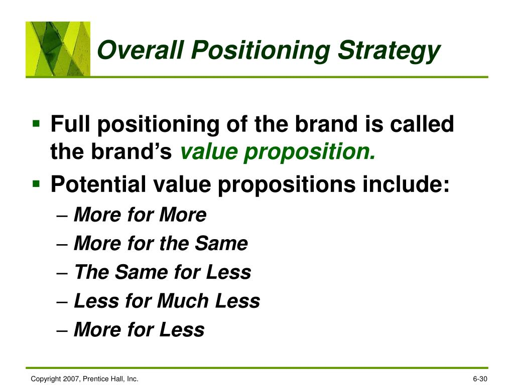 Overall Positioning Strategy