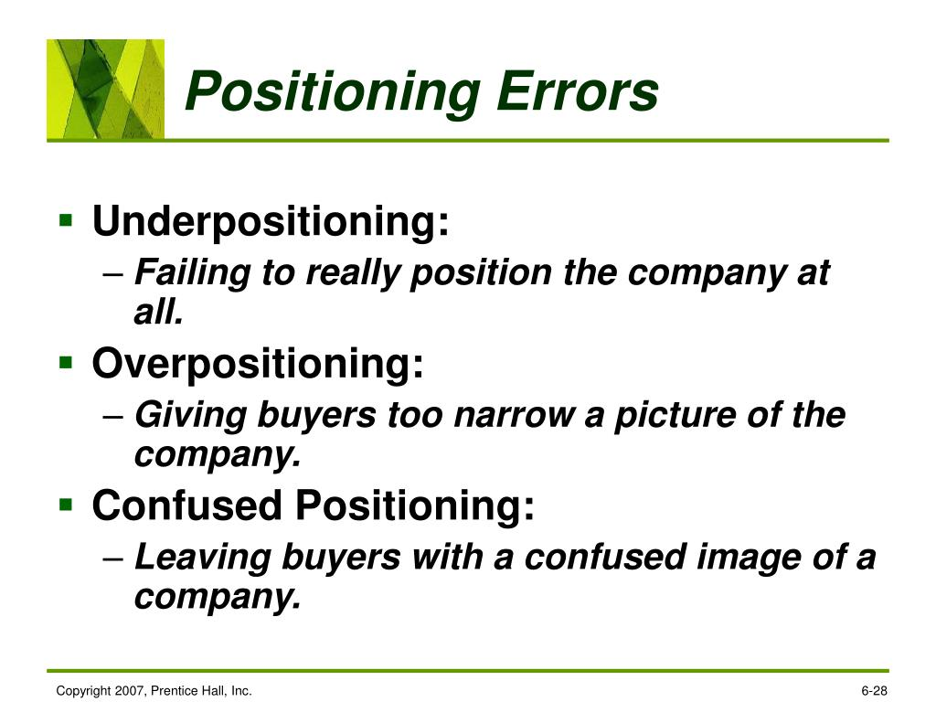 Positioning Errors