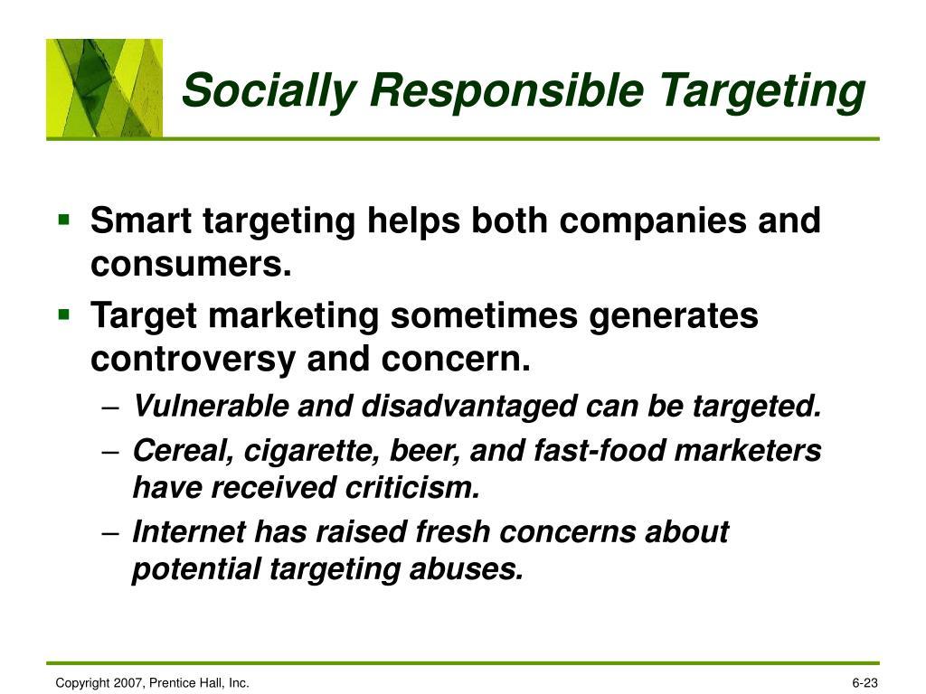 Socially Responsible Targeting