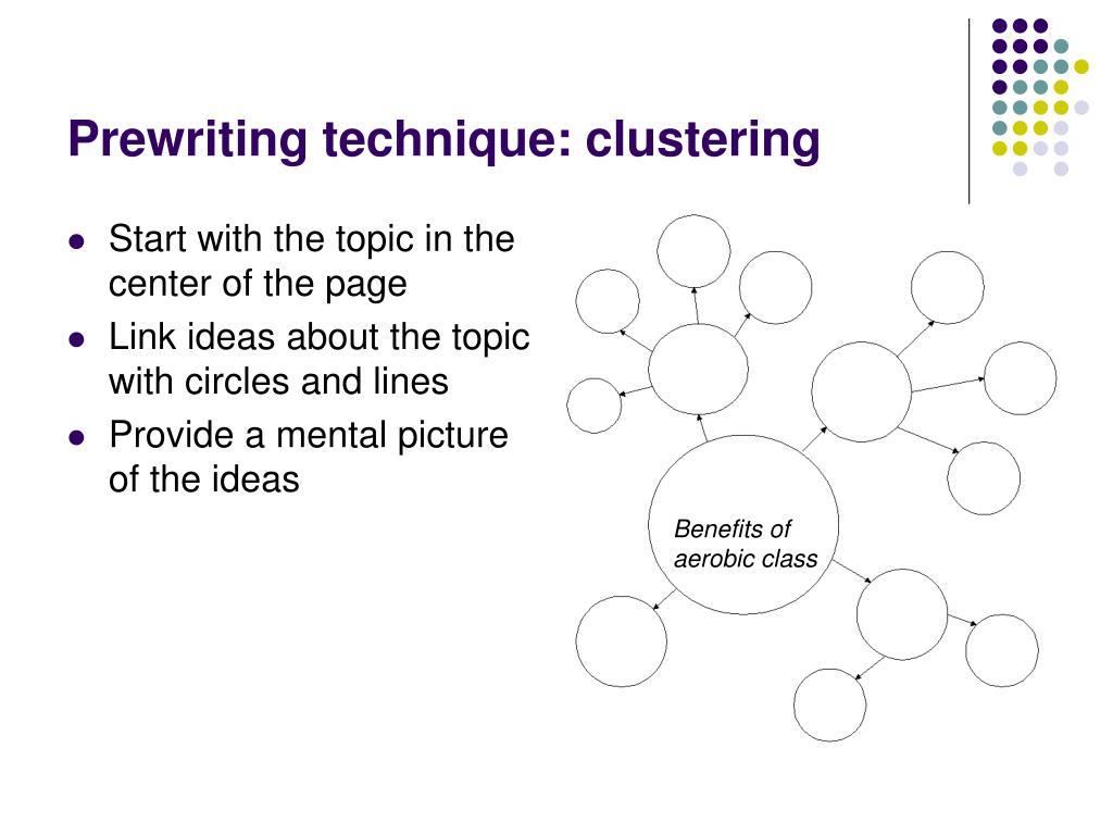 Prewriting technique: clustering
