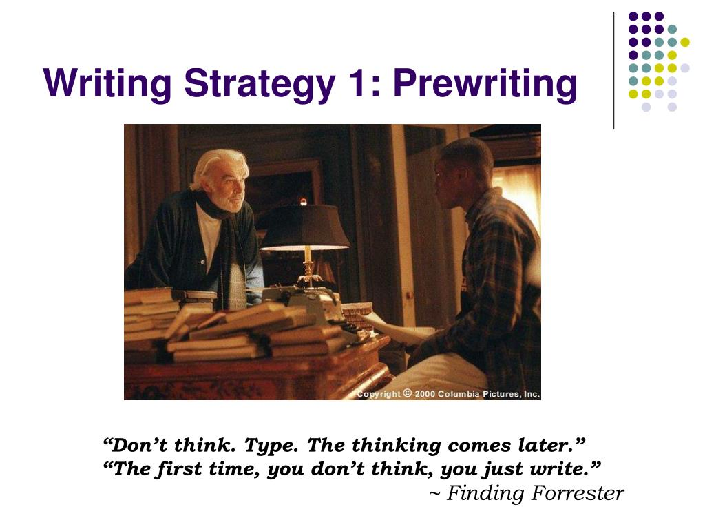 Writing Strategy 1: Prewriting