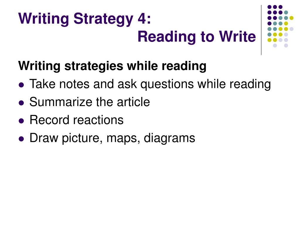 Writing Strategy 4: