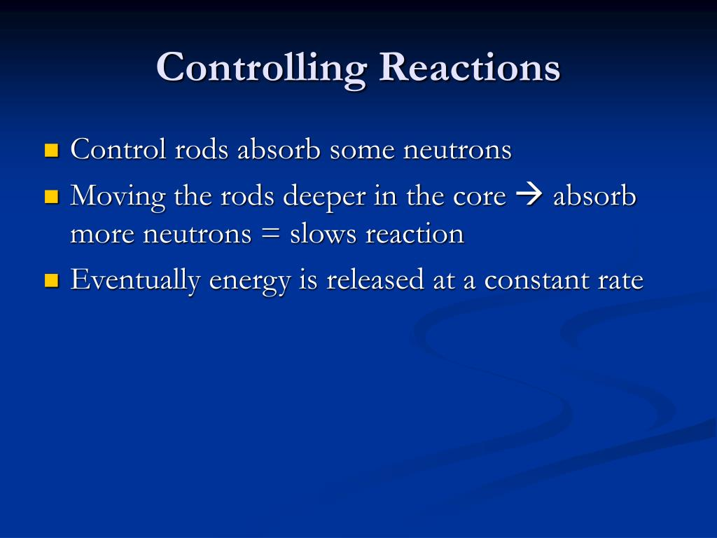 Controlling Reactions