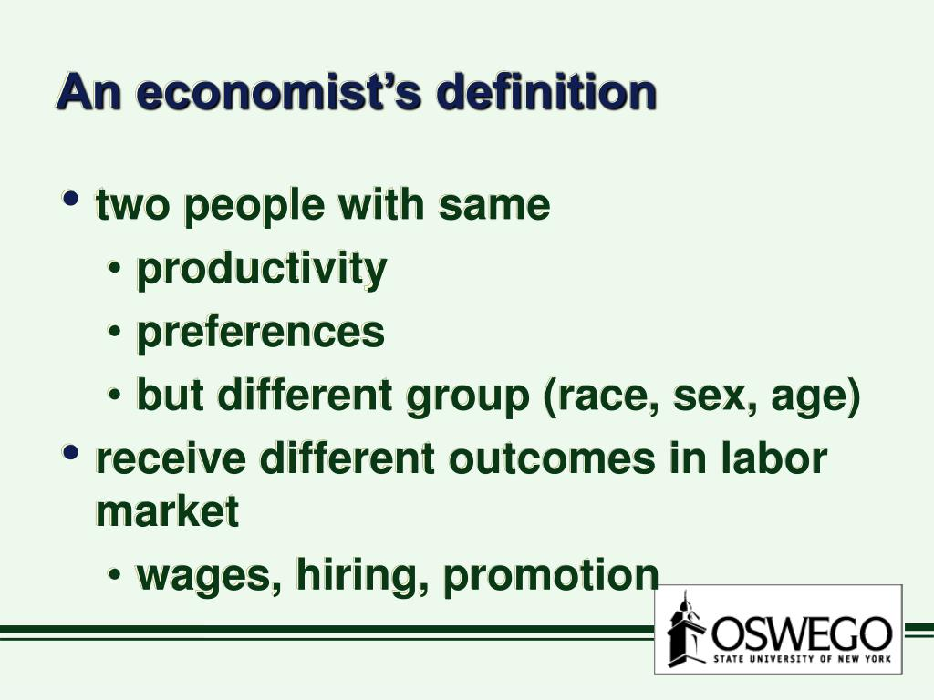 An economist's definition