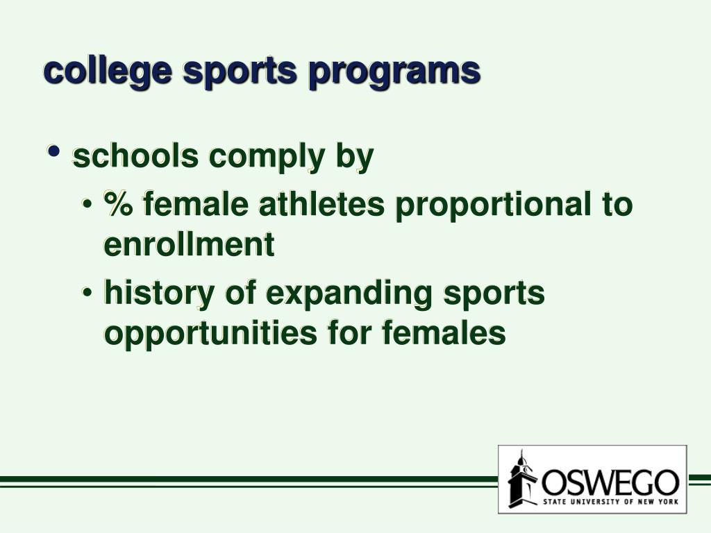 college sports programs