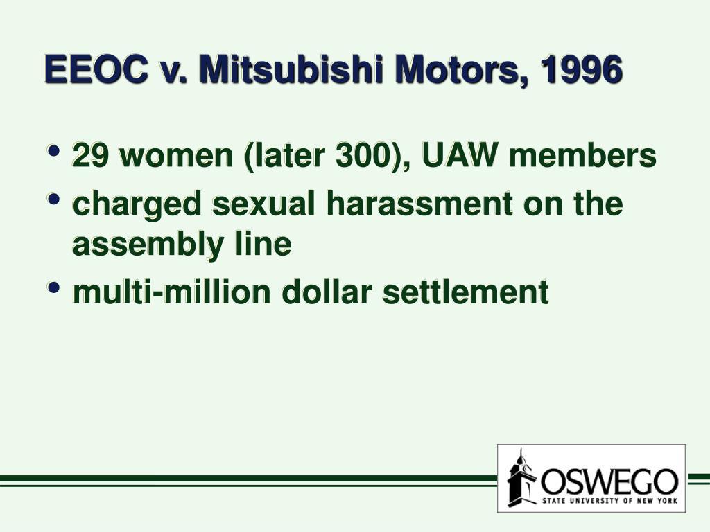 EEOC v. Mitsubishi Motors, 1996