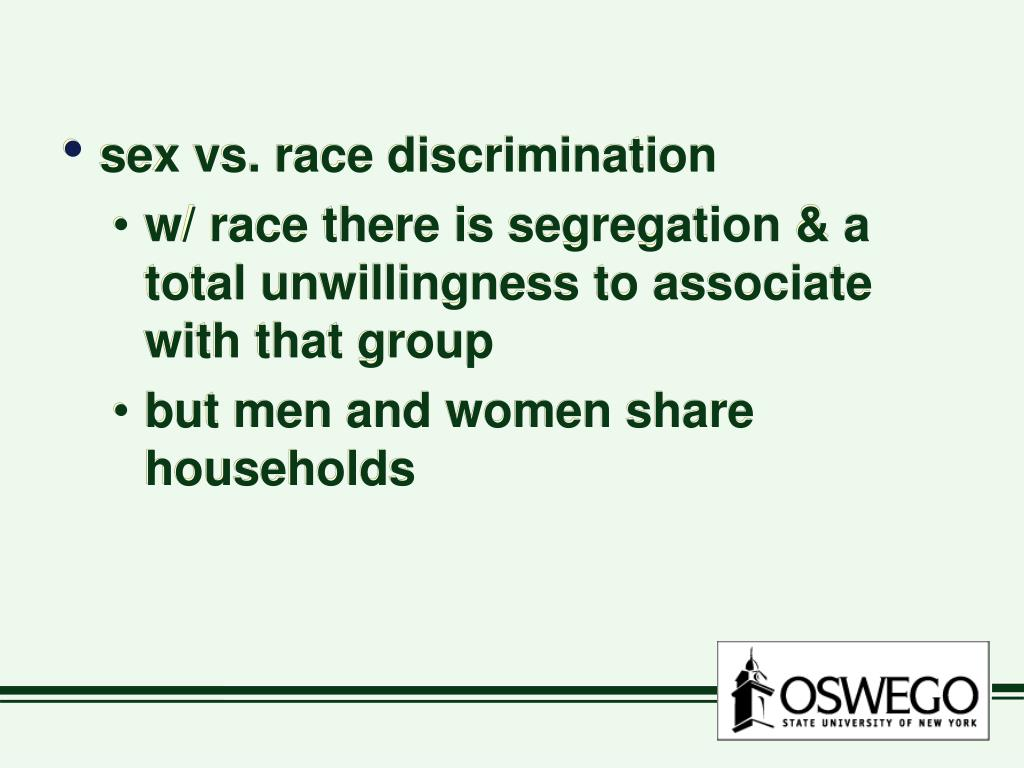 sex vs. race discrimination
