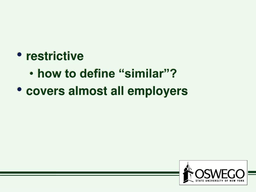 restrictive