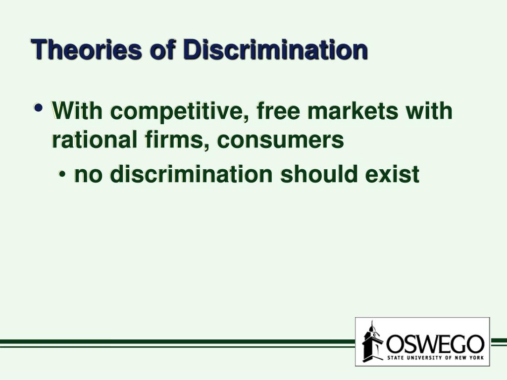 Theories of Discrimination