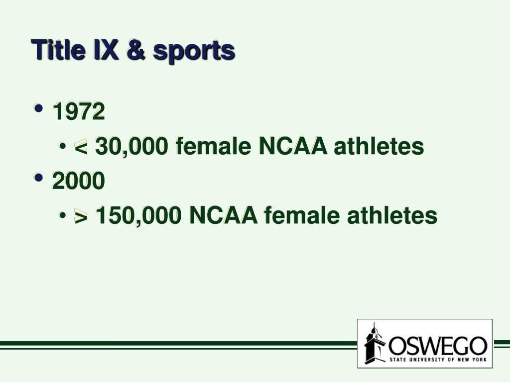 Title IX & sports