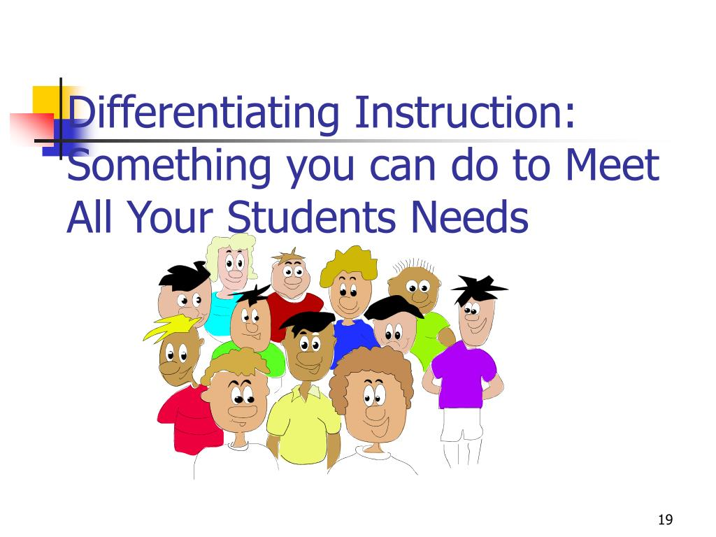 Differentiating Instruction: