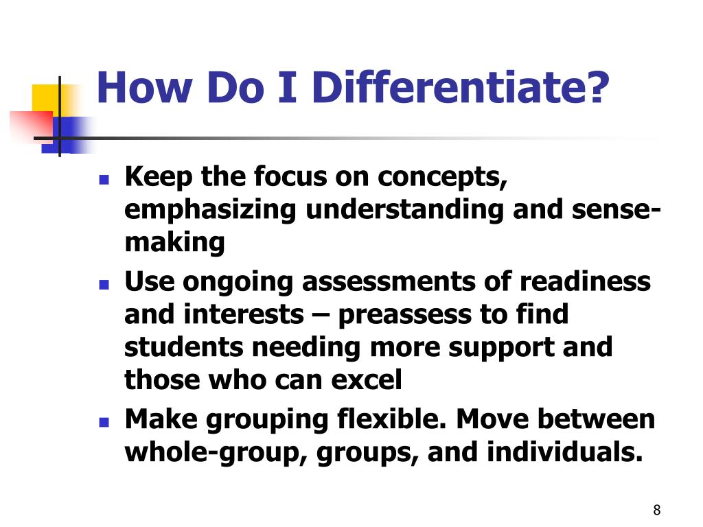 How Do I Differentiate?