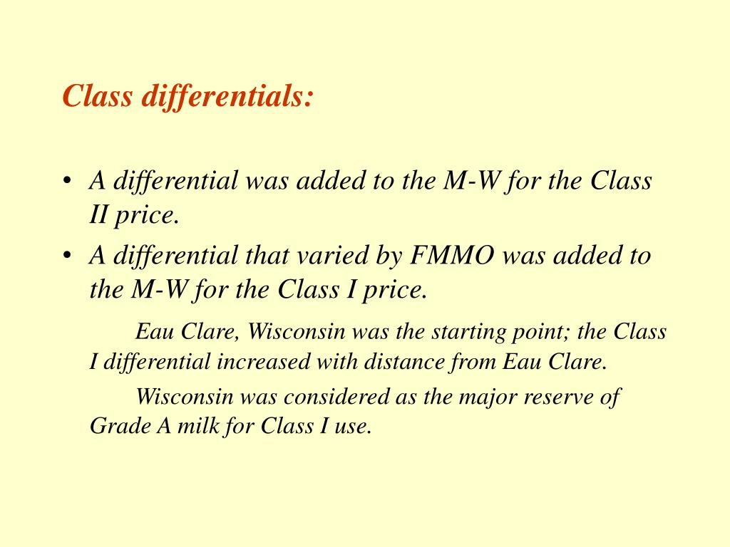 Class differentials: