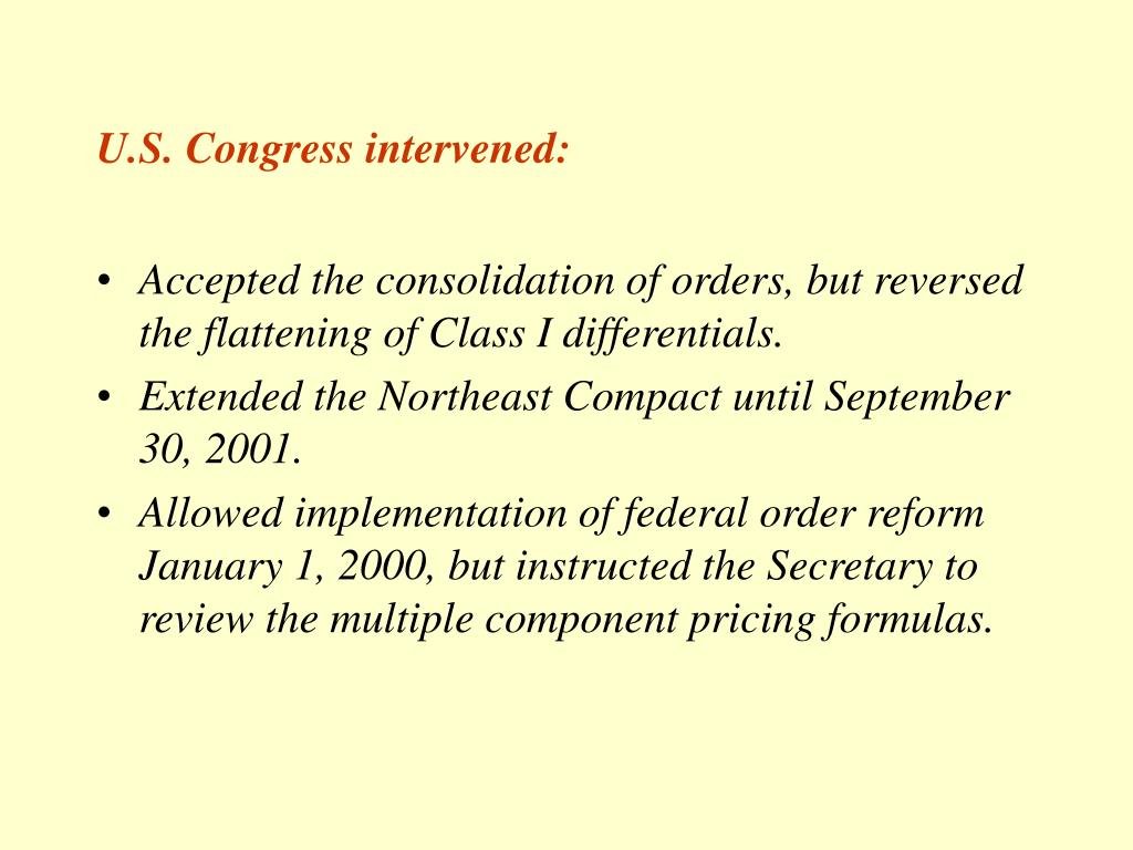 U.S. Congress intervened: