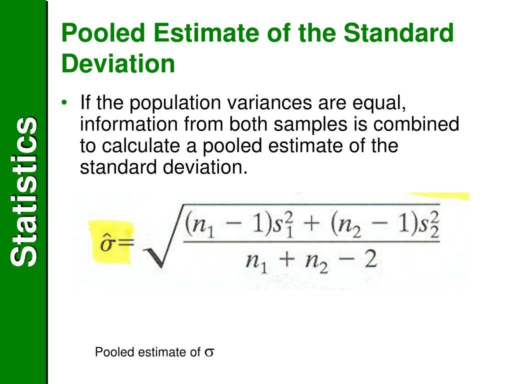 Pooled Estimate of the Standard Deviation