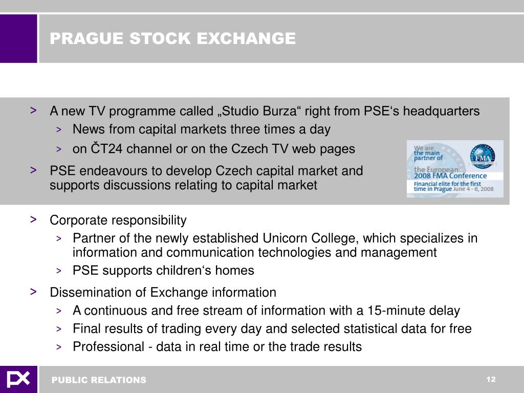 PRAGUE STOCK EXCHANGE