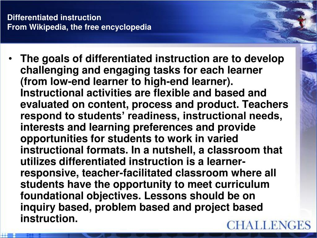 differentiated instruction activities for teachers