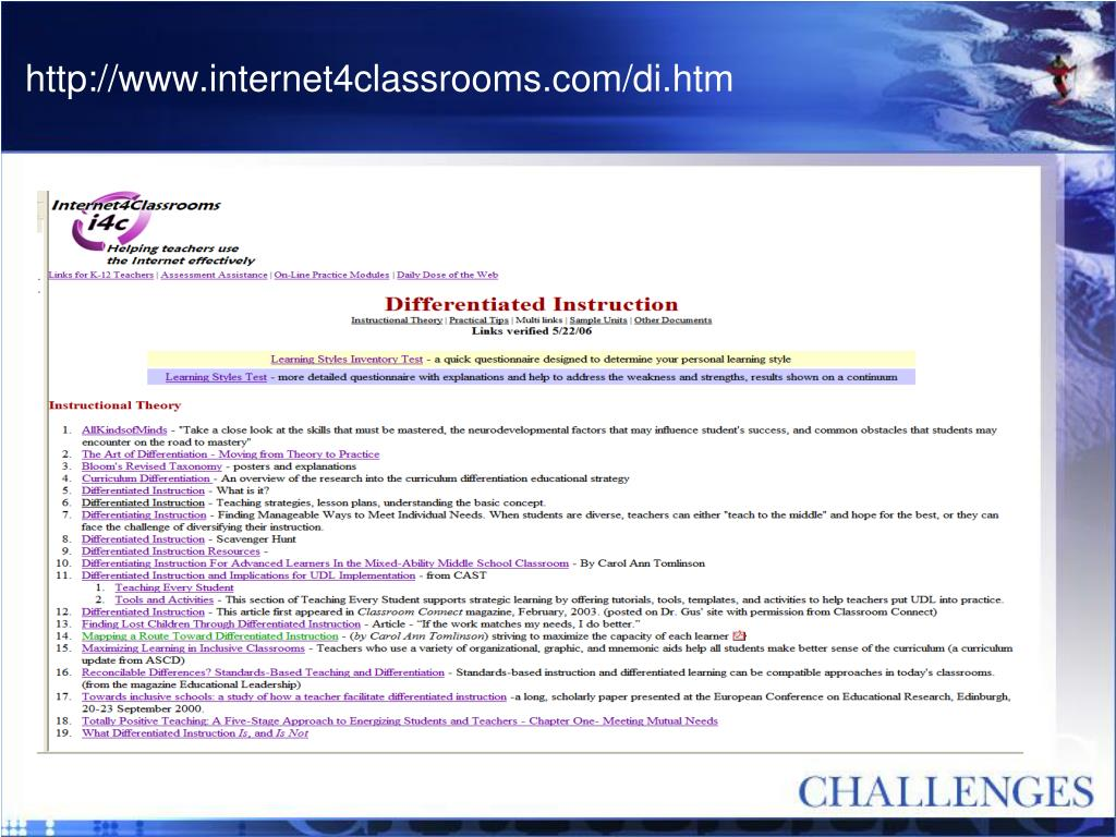 http://www.internet4classrooms.com/di.htm