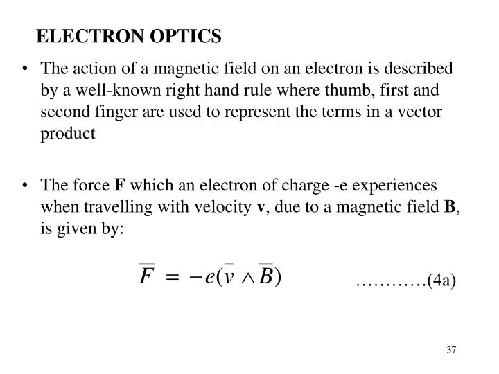 ELECTRON OPTICS