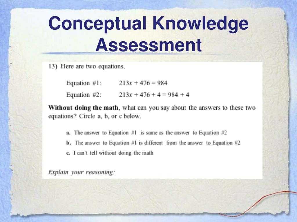 Conceptual Knowledge Assessment