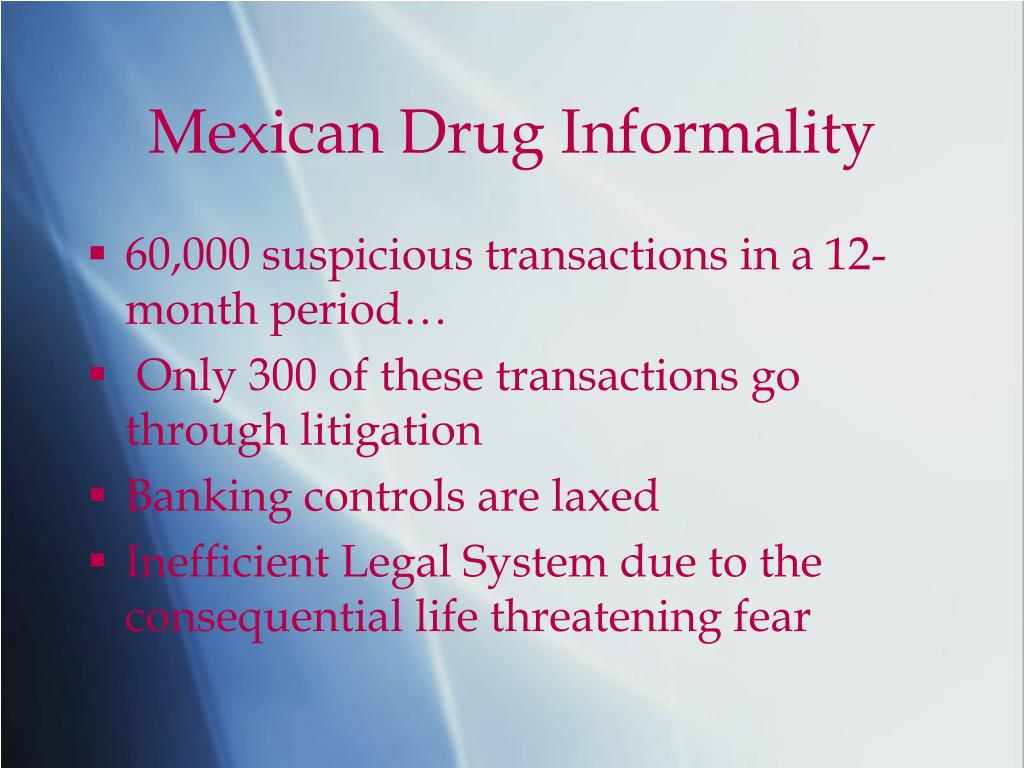 Mexican Drug Informality