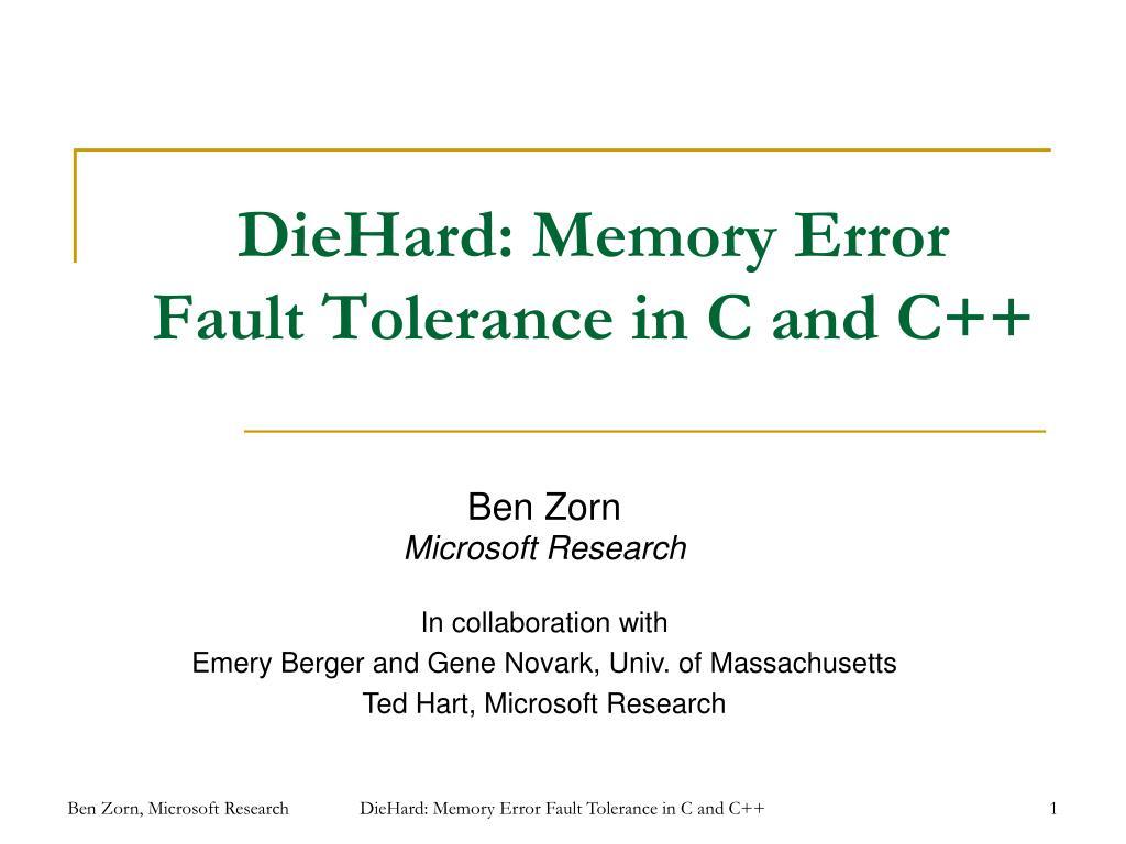 DieHard: Memory Error