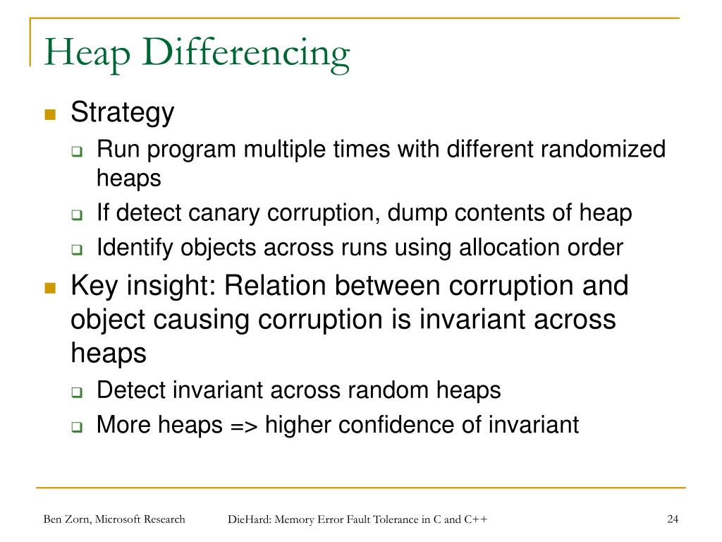 Heap Differencing