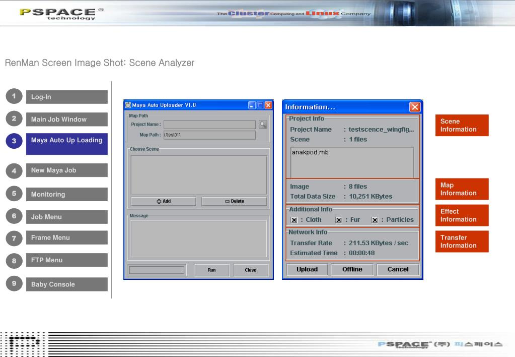 RenMan Screen Image Shot: Scene Analyzer
