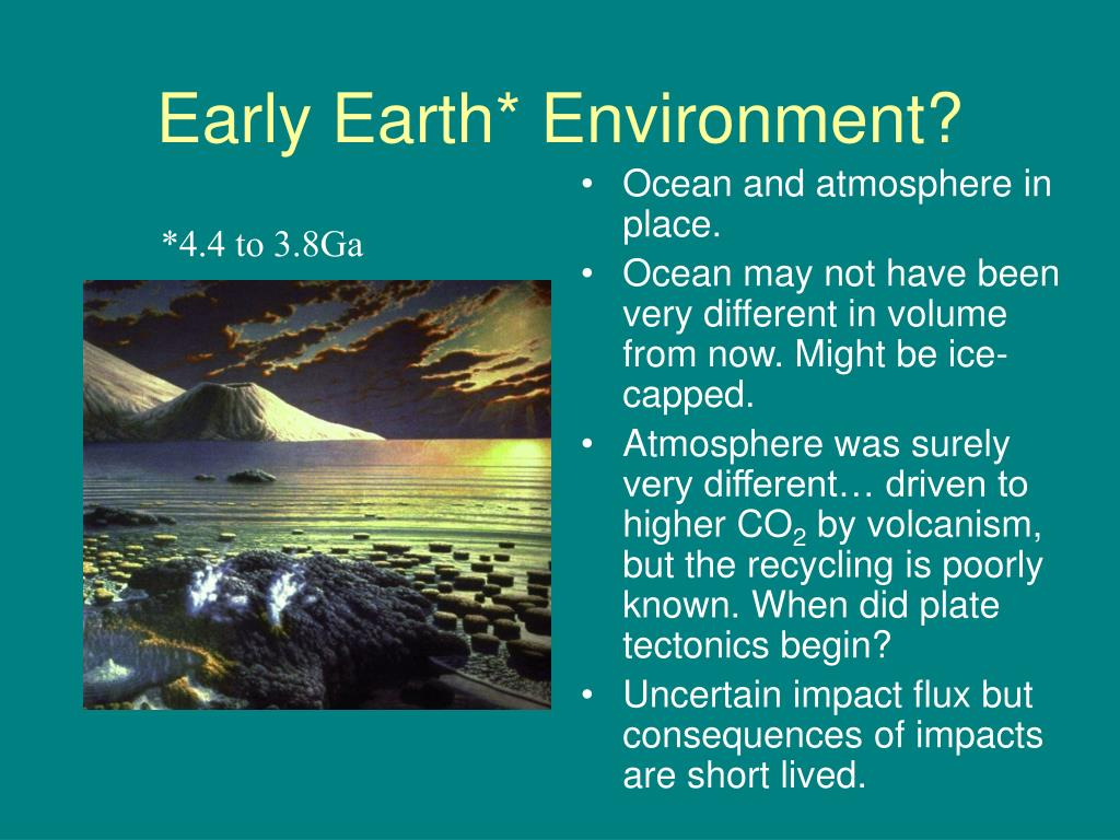 Early Earth* Environment?