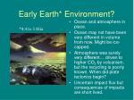early earth environment