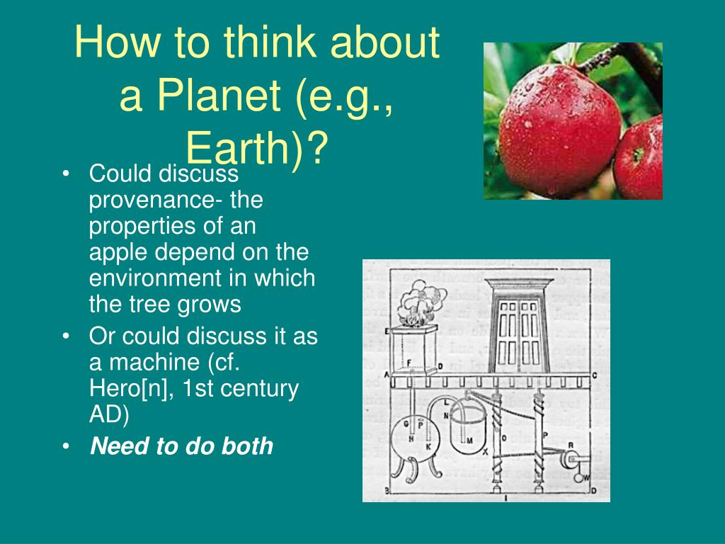 How to think about a Planet (e.g., Earth)?