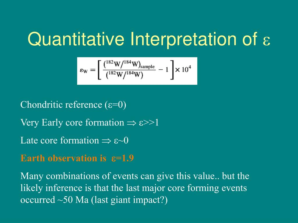 Quantitative Interpretation of