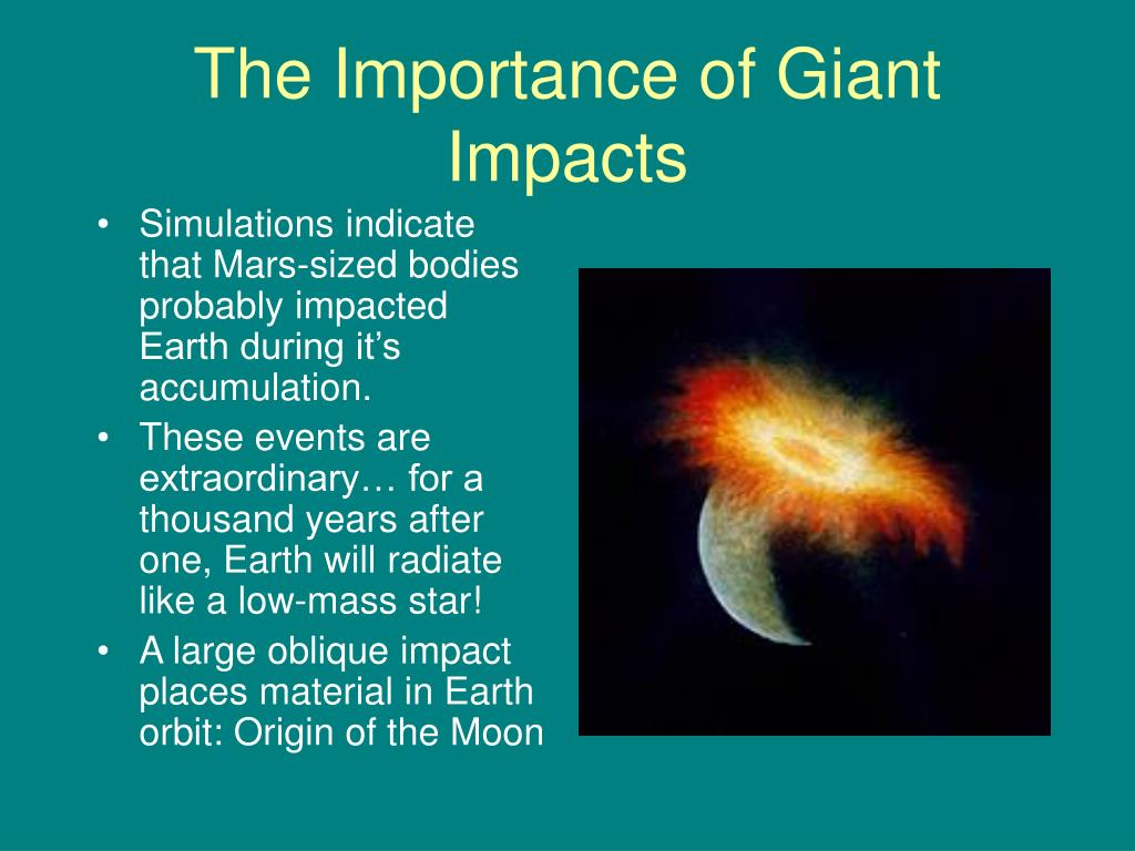 The Importance of Giant Impacts