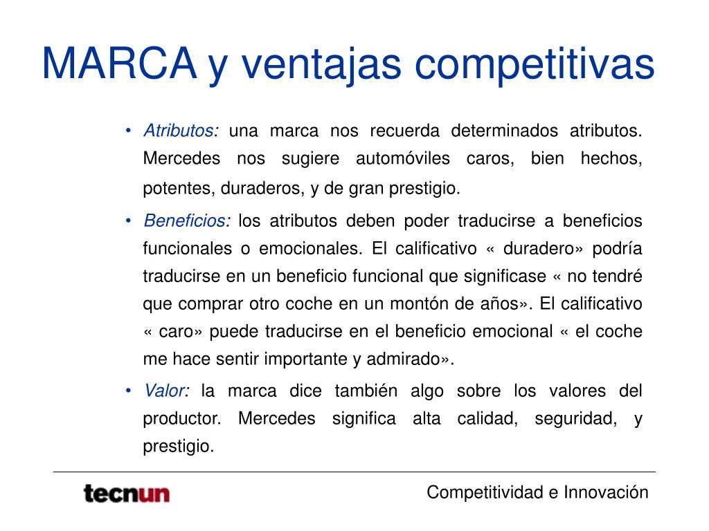 MARCA y ventajas competitivas