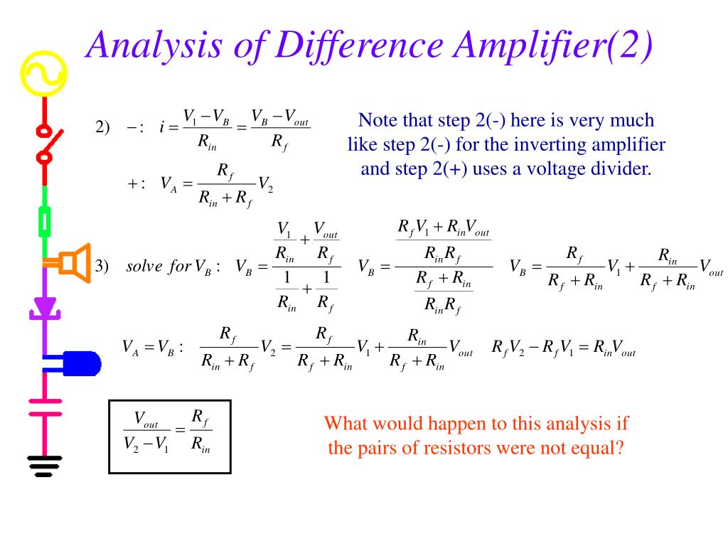 Analysis of Difference Amplifier(2)