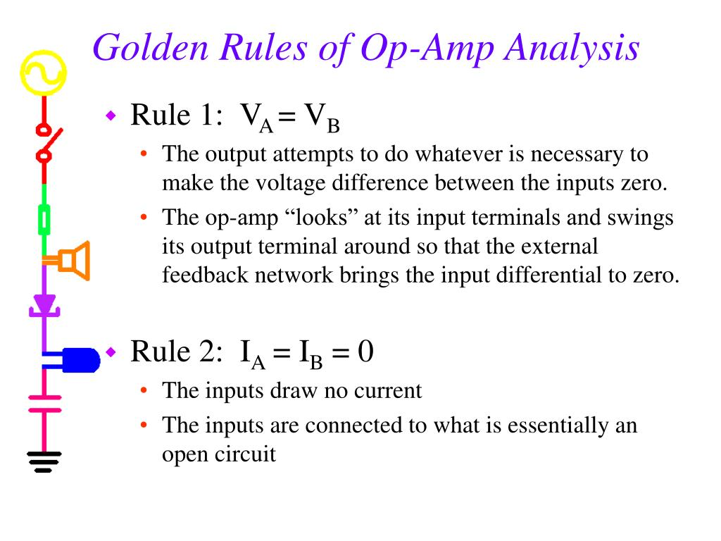 Golden Rules of Op-Amp Analysis