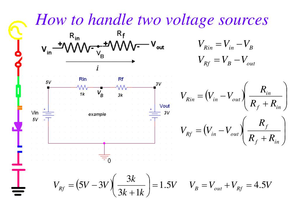 How to handle two voltage sources
